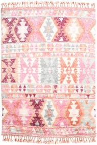 Märta - Różowy Dywan 160X230 Nowoczesny Tkany Ręcznie Jasnoróżowy/Beżowy (Wełna, Indie)