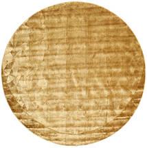 Crystal - Złoty Dywan Ø 250 Nowoczesny Okrągły Jasnobrązowy/Ciemnobeżowy Duży ( Indie)