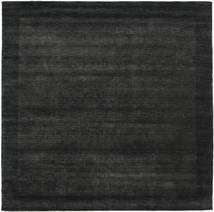 Handloom Frame - Czarny/Ciemnoszary Dywan 300X300 Nowoczesny Kwadratowy Czarny Duży (Wełna, Indie)