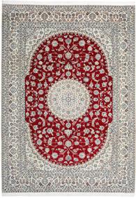 Nain 9La Dywan 246X345 Orientalny Tkany Ręcznie Jasnoszary/Beżowy (Wełna/Jedwab, Persja/Iran)