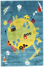 World Dywan 120X180 Nowoczesny Turkusowy Niebieski/Żółty ( Turcja)