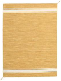 Ernst - Musztardowa Żółć/Kość Słoniowa Dywan 140X200 Nowoczesny Tkany Ręcznie Jasnobrązowy/Ciemnobeżowy (Wełna, Indie)
