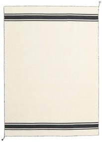 Ernst - Kość Słoniowa/Czarny Dywan 140X200 Nowoczesny Tkany Ręcznie Beżowy (Wełna, Indie)
