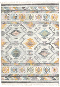 Mirza Dywan 160X230 Nowoczesny Tkany Ręcznie Jasnoszary/Beżowy (Wełna, Indie)