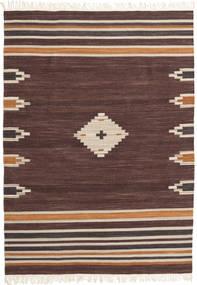 Tribal - Brunatny Dywan 160X230 Nowoczesny Tkany Ręcznie Ciemnobrązowy/Ciemnoczerwony (Wełna, Indie)