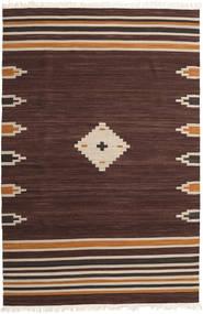 Tribal - Brunatny Dywan 200X300 Nowoczesny Tkany Ręcznie Ciemnobrązowy (Wełna, Indie)