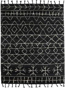 Moss Berber - Czarny Dywan 240X300 Nowoczesny Tkany Ręcznie Czarny/Ciemnoszary (Wełna, Indie)