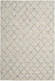 Rut - Srebrny/Szary Melange Dywan 200X300 Nowoczesny Tkany Ręcznie Jasnoszary/Ciemnobeżowy (Wełna, Indie)