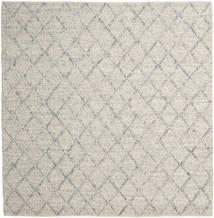 Rut - Srebrny/Szary Melange Dywan 250X250 Nowoczesny Tkany Ręcznie Kwadratowy Jasnoszary/Ciemnobeżowy Duży (Wełna, Indie)