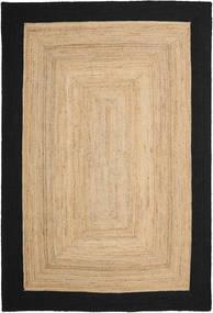 Dywan Zewnętrzny Frida Frame - Natural/Czarny Dywan 200X300 Nowoczesny Tkany Ręcznie Ciemnobeżowy/Czarny/Beżowy (Dywan Jutowe Indie)