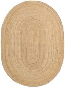Frida Oval - Natural Dywan 160X230 Nowoczesny Tkany Ręcznie Ciemnobeżowy/Beżowy ( Indie)