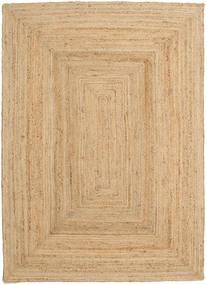 Dywan Zewnętrzny Frida - Natural Dywan 140X200 Nowoczesny Tkany Ręcznie Ciemnobeżowy/Beżowy (Dywan Jutowe Indie)