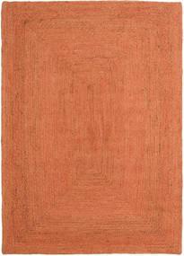 Dywan Zewnętrzny Frida Color - Pomarańczowy Dywan 140X200 Nowoczesny Tkany Ręcznie Pomarańczowy/Czerwony (Dywan Jutowe Indie)