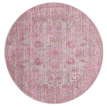 Maharani - Szary/Różowy Dywan Ø 200 Nowoczesny Okrągły Jasnoróżowy ( Turcja)