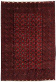 Afgan Dywan 202X283 Orientalny Tkany Ręcznie Ciemnoczerwony (Wełna, Afganistan)