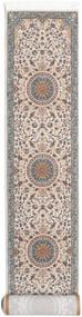 Negar Dywan 80X400 Orientalny Chodnik Jasnoszary/Beżowy ( Turcja)