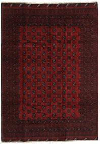 Afgan Dywan 194X279 Orientalny Tkany Ręcznie Ciemnoczerwony/Czerwony (Wełna, Afganistan)
