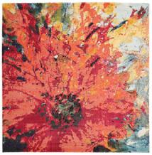 Flora Dywan 200X200 Nowoczesny Kwadratowy Czerwony/Pomarańczowy ( Turcja)