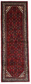 Hosseinabad Dywan 102X302 Orientalny Tkany Ręcznie Chodnik Ciemnoczerwony/Ciemnobrązowy (Wełna, Persja/Iran)