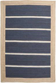 Dywan Zewnętrzny Frida Stripe - Niebieski Dywan 200X300 Nowoczesny Tkany Ręcznie Niebieski/Beżowy/Ciemnoniebieski (Dywan Jutowe Indie)