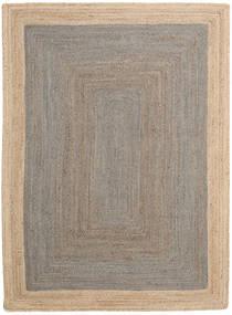 Dywan Zewnętrzny Frida Frame - Szary/Natural Dywan 160X230 Nowoczesny Tkany Ręcznie Jasnoszary/Beżowy (Dywan Jutowe Indie)