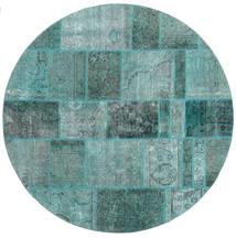 Patchwork Dywan Ø 200 Nowoczesny Tkany Ręcznie Okrągły (Wełna, Persja/Iran)