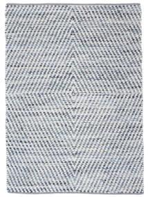 Hilda - Denim/White Dywan 140X200 Nowoczesny Tkany Ręcznie Beżowy/Jasnoniebieski (Bawełna, Indie)