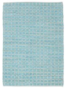 Elna - Bright_Blue Dywan 140X200 Nowoczesny Tkany Ręcznie Jasnoniebieski/Turkusowy Niebieski (Bawełna, Indie)