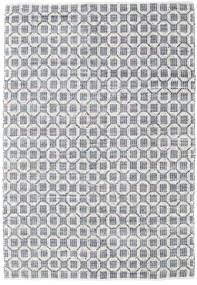 Elna - Szary Dywan 200X300 Nowoczesny Tkany Ręcznie Jasnoszary/Biały/Creme (Bawełna, Indie)