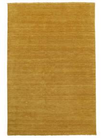Handloom Fringes - Żółty Dywan 160X230 Nowoczesny Pomarańczowy/Jasnobrązowy (Wełna, Indie)