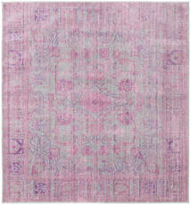 Maharani - Szary/Różowy Dywan 200X200 Nowoczesny Kwadratowy Jasnoróżowy/Jasnoszary ( Turcja)