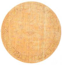 Maharani - Pomarańczowy Dywan Ø 200 Nowoczesny Okrągły Jasnobrązowy/Ciemnobeżowy ( Turcja)