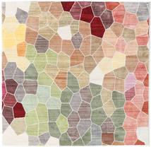 Play Of Colours Dywan 150X150 Nowoczesny Kwadratowy Jasnoszary/Beżowy ( Turcja)