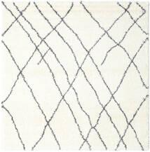 Shaggy Tangier - White/Ciemnoszary Dywan 250X250 Nowoczesny Kwadratowy Beżowy/Biały/Creme Duży ( Turcja)