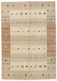 Gabbeh Indie Dywan 138X198 Nowoczesny Tkany Ręcznie Chodnik Beżowy/Jasnoszary (Wełna, Indie)