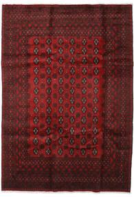Afgan Dywan 199X282 Orientalny Tkany Ręcznie Ciemnoczerwony/Ciemnobrązowy (Wełna, Afganistan)