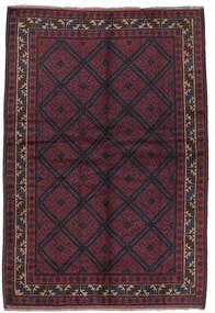 Beludż Dywan 156X235 Orientalny Tkany Ręcznie Ciemnoniebieski/Ciemnoczerwony (Wełna, Afganistan)