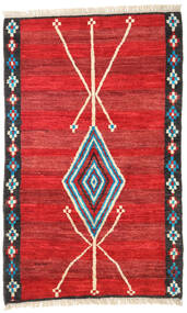 Moroccan Berber - Afghanistan Dywan 118X187 Nowoczesny Tkany Ręcznie Rdzawy/Czerwony/Czerwony (Wełna, Afganistan)