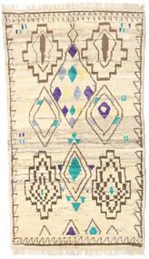 Moroccan Berber - Afghanistan Dywan 112X193 Nowoczesny Tkany Ręcznie Beżowy/Ciemnobeżowy (Wełna, Afganistan)