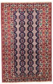 Beludż Patina Dywan 132X206 Orientalny Tkany Ręcznie Ciemnofioletowy/Beżowy (Wełna, Persja/Iran)