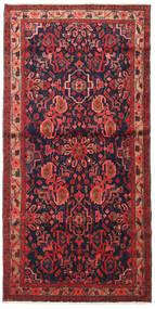 Nahawand Dywan 110X225 Orientalny Tkany Ręcznie Ciemnoczerwony/Czarny (Wełna, Persja/Iran)