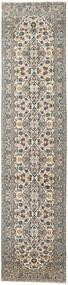 Keszan Patina Dywan 94X408 Orientalny Tkany Ręcznie Chodnik Jasnoszary/Ciemnoszary (Wełna, Persja/Iran)