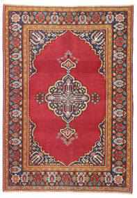 Keszan Patina Dywan 103X146 Orientalny Tkany Ręcznie Rdzawy/Czerwony/Ciemnoczerwony (Wełna, Persja/Iran)