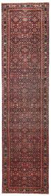 Hosseinabad Patina Dywan 79X317 Orientalny Tkany Ręcznie Chodnik Ciemnoczerwony/Ciemnobrązowy (Wełna, Persja/Iran)