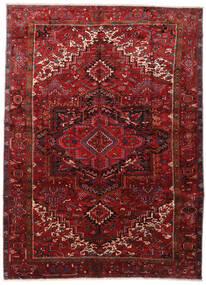 Heriz Dywan 295X403 Orientalny Tkany Ręcznie Ciemnoczerwony/Ciemnobrązowy Duży (Wełna, Persja/Iran)