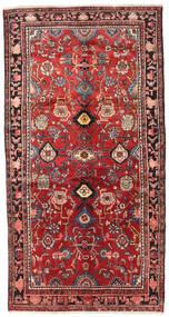 Nahawand Dywan 143X273 Orientalny Tkany Ręcznie Ciemnoczerwony/Ciemnobrązowy/Rdzawy/Czerwony (Wełna, Persja/Iran)