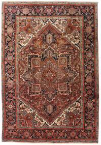 Heriz Dywan 195X285 Orientalny Tkany Ręcznie Ciemnobrązowy/Ciemnoczerwony (Wełna, Persja/Iran)