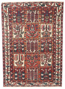 Baktjar Patina Dywan 110X152 Orientalny Tkany Ręcznie Ciemnoczerwony/Ciemnobrązowy (Wełna, Persja/Iran)