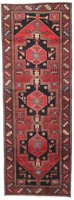 Hamadan Patina Dywan 102X287 Orientalny Tkany Ręcznie Chodnik Ciemnoczerwony/Czarny (Wełna, Persja/Iran)