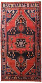 Hamadan Dywan 160X313 Orientalny Tkany Ręcznie Chodnik Ciemnoczerwony/Czarny (Wełna, Persja/Iran)